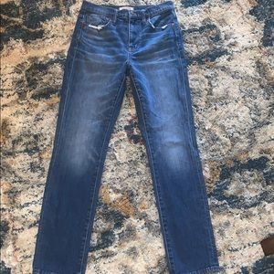 Madewell the high - rise slim boy jean size